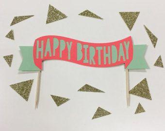 1er cumpleaños pastel Topper Escribano por RusticNovel en Etsy