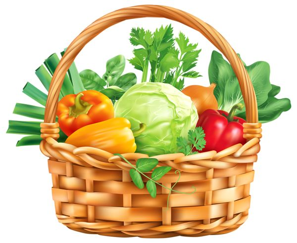 Basket Of Vegetables Clipart : Best images about vegetable clip art and photos on