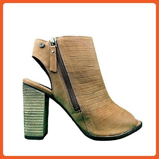 Superdry Cara Cut Peep Toe Heel 6 tan - Sneakers for women (*Amazon Partner-Link)