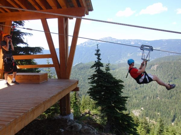 For the fearless, Superfly Ziplines now has the longest and second-longest (above) ziplines in Canada.