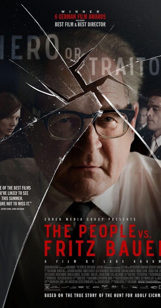 Directed by Lars Kraume.  With Rüdiger Klink, Burghart Klaußner, Andrej Kaminsky, Jörg Schüttauf. The story of the man who brought high-ranking German Nazi criminal Adolf Eichmann to justice.