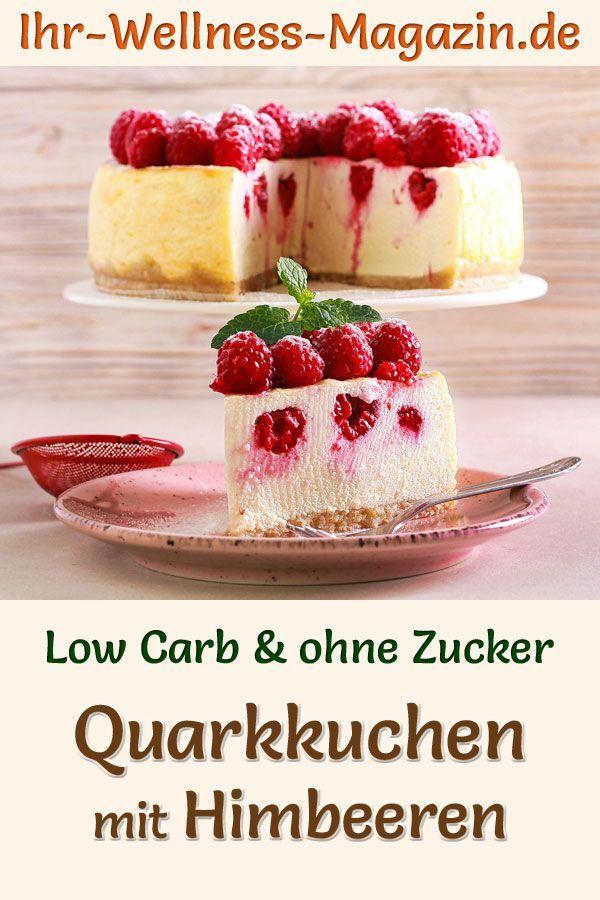 Low Carb Quarkkuchen Mit Himbeeren Ohne Backen Kasekuchen Rezept Ohne Zucker In 2020 Quarkkuchen Sommer Kuchen Susse Pfannkuchen