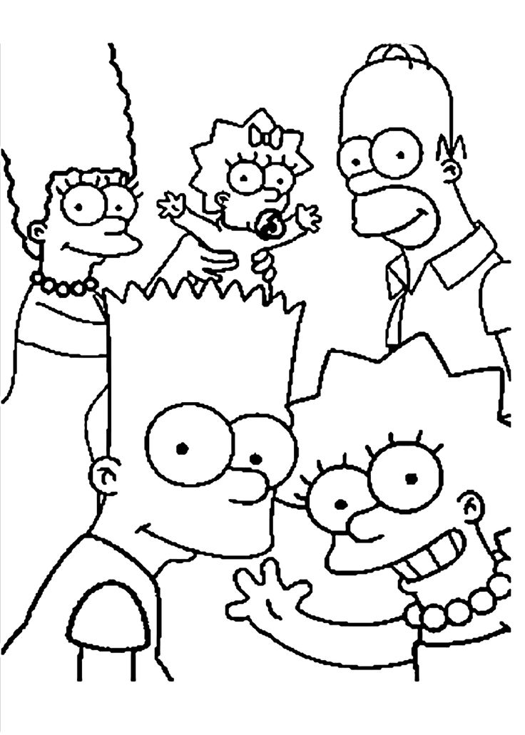 29 best images about simpson coloring on pinterest