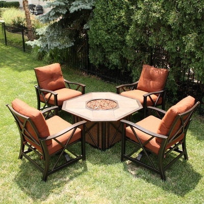 Haywood Fire Pit Set By Agio Select Fire Pit Sets Cheap