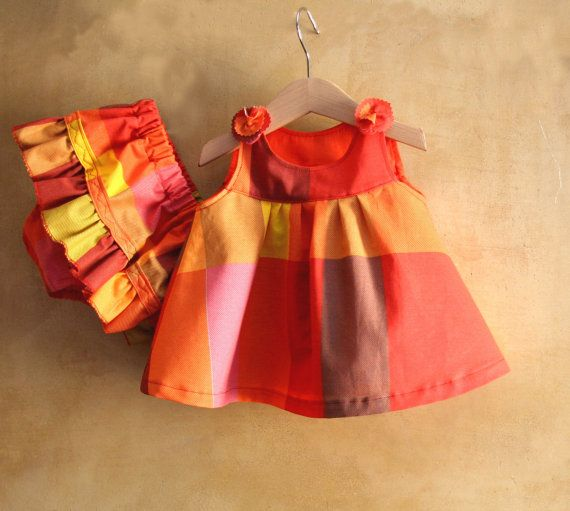 Baby Girl Clothes colorful summer cotton Dress & Diaper