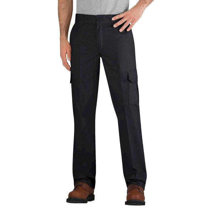 Dickies Men's Slim Straight Fit Flex Twill Cargo Pant- Black 44x32