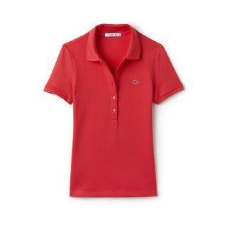 Women's Slim Fit Stretch Piqué Polo Shirt | LACOSTE
