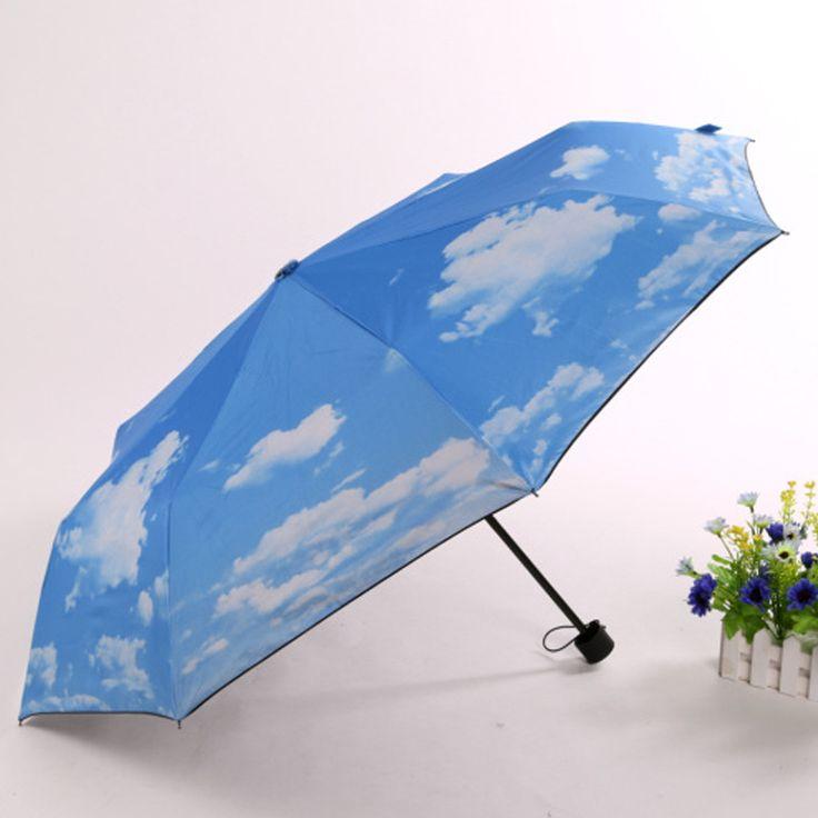 Folding umbrella like sky /Uv protection/Strong umbrella handle