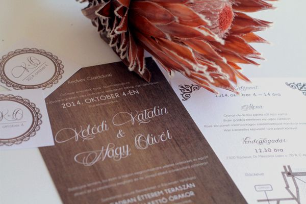 wedding, dekorxtar, wedding invitation, fall, wood, protea www.dekorxtar.weebly.com www.facebook.com/dekorxtar