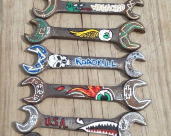 Hand painted wrenches! perfect for fathers day and the special mister!