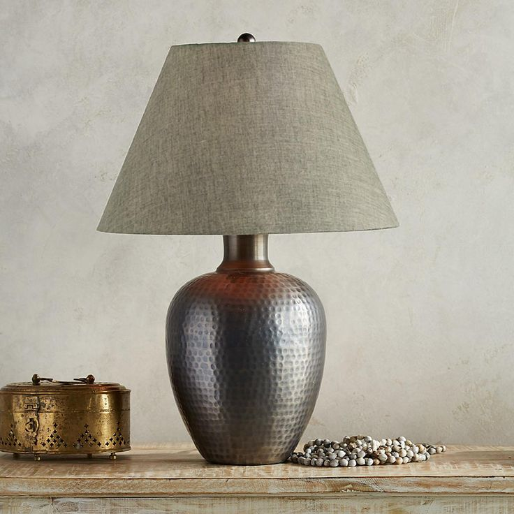 GRAYu0027S RIVER TABLE LAMP Rustic and