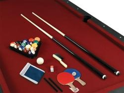 @Overstock - Two great games are combined into one with this combo from Fullerton. This burgundy pool table and table tennis comes with everything needed to keep the whole family happy for great home entertainment.http://www.overstock.com/Sports-Toys/84-Fullerton-Billiard-Table-with-Table-Tennis-Top/5532969/product.html?CID=214117 $483.99