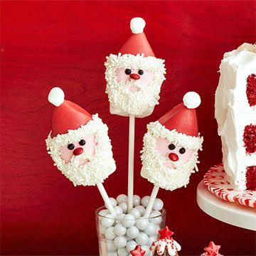 Marshmallow Santa Pops - FamilyCircle.com