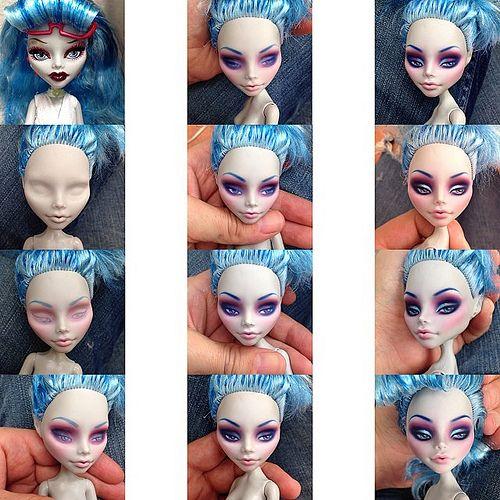 Erregiro's Monster High Custom work process