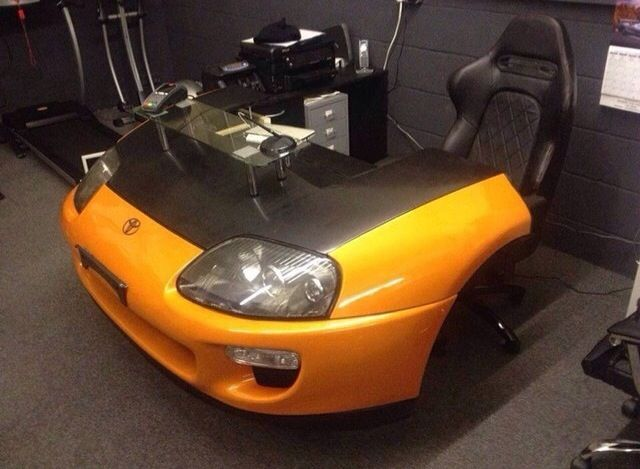 Toyota supra car desk and race office seat #house