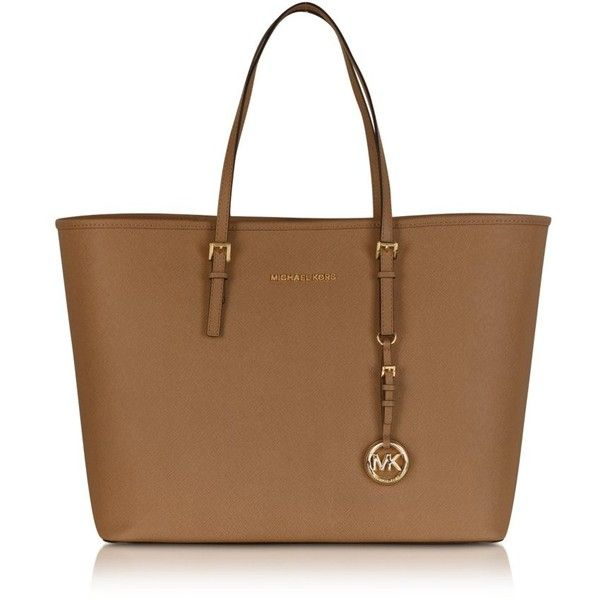 Michael Kors Jet Set Travel Top Zip Tote found on Polyvore