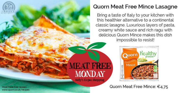 Quorn Meat Free Lasagne <><><><> Bring a taste of Italy to your kitchen with this healthier alternative to a continental classic - lasagne. Luxurious layers of pasta, creamy white sauce and rich ragu with delicious Quorn Mince makes this dish impossible to resist! <><><><> Click further to see the full ingredient list & recipe!
