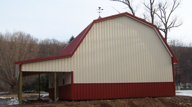 Gambrel roof barn dimensions woodworking projects plans for Gambrel roof metal building