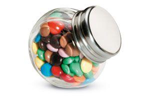 Chocolates en bote de cristal CHOCKY