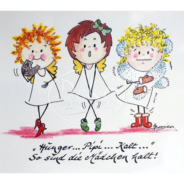 Heidemarie Brosien - Passepartout-Bild - HUNGER, PIPI, KALT - Deko Unlimited, 12,95 €
