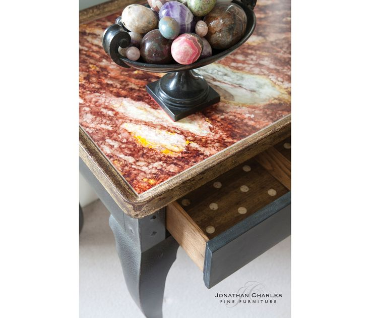 Every Home Needs A Unique Furniture Like This Hemsley Table Multi Marble  From Jonathan Charles Fine Furniture.