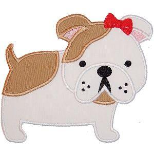 Bulldog Applique Animal Amp Pet Appliques Pinterest