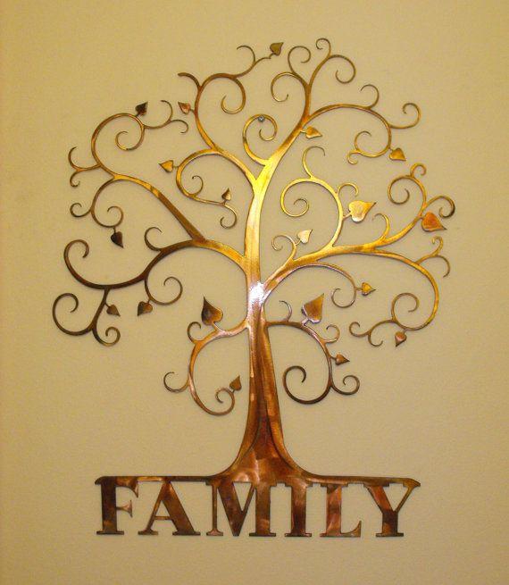 Custom Family Tree  Wall Art by MetalArchitect on Etsy, $65.00