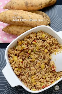 Coco's Sweet Tooth ......The Furry Bakers: 地瓜鸡肉饭 Sweet Potatoes Chicken Rice