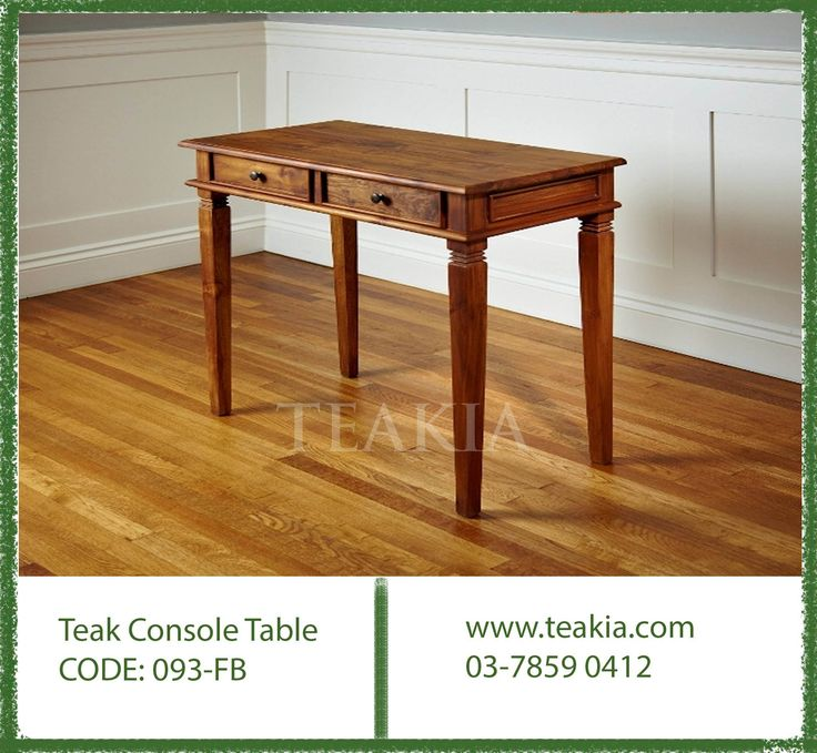 https://flic.kr/p/Cxk6xZ | teakfurniture-teakwood-console-table-livingroomfurniture-bedroomfurniture-solidwood-furniture-teakia- | Teakwood console table suitable for every where be it your lobby, dining room, bedroom or study room. Its dimensions are 100 x 45 x 80cm Height, We can always customize your #console table as per your requrement. www.teakia.com For more detail contact us: Phone: 03-78590412 Fax: 03-55690413 Email: info@teakia.com