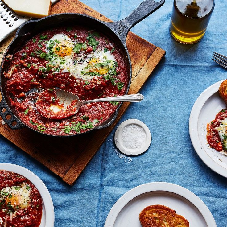 Eggs in Purgatory with Capers and Parsley recipe on Food52