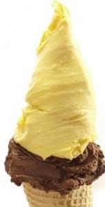 El helado de dulce de leche y vainilla!