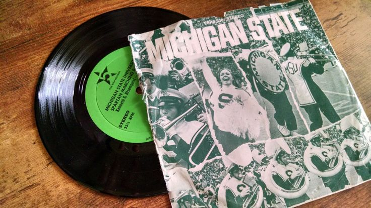 New to amysvintagemarket on Etsy: Michigan State University Marching Band 1970s LP recording of MSU Fight song (10.00 USD)