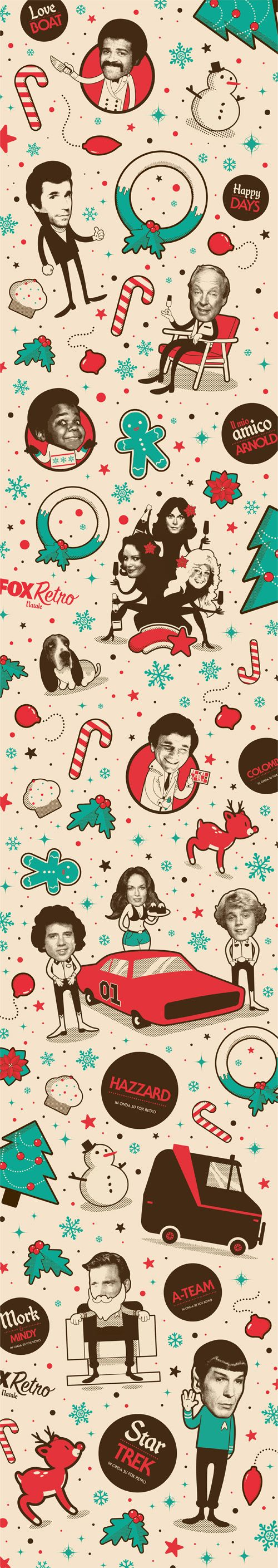 Fox Retro Natale by Santiago Wardak, via Behance
