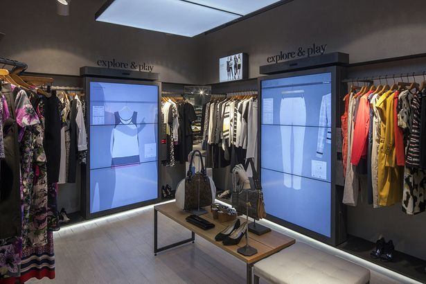 M&S trialing virtual rails in their Amsterdam store to match digital clothing items up with your physical in-store choices.