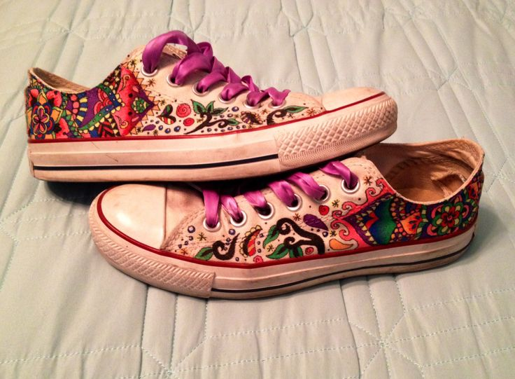 Painted White Converse