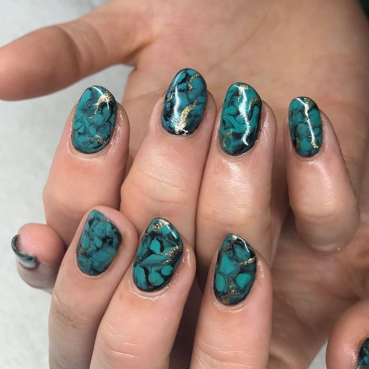 The 25 best turquoise nail designs ideas on pinterest turquoise plume nail design turquoise nail art hand painted nail art prinsesfo Gallery