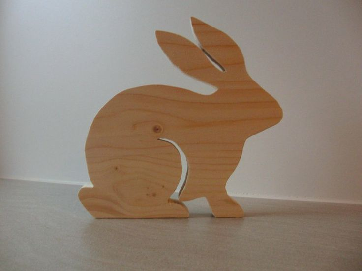 Osterhase Holz von Kniffka´s Bastelwelt auf DaWanda.com