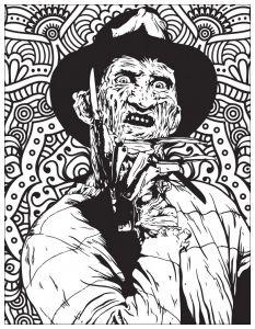 Coloriage De Films D Horreur Classiques Freddy Krueger