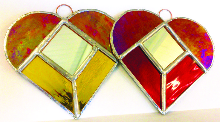 Join Tracy Quinn's workshop to make and take home one of these heart shaped sun catchers.