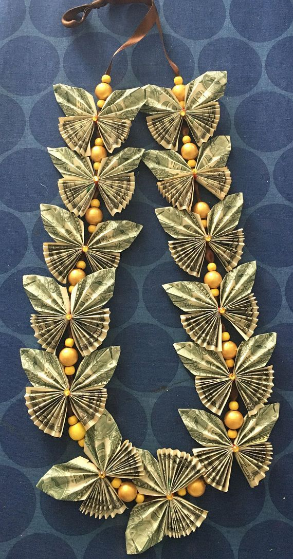 Butterfly money lei with beads – #Beads #Butterfly…