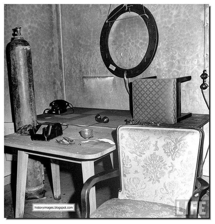The inside of the Hitler's bunker.