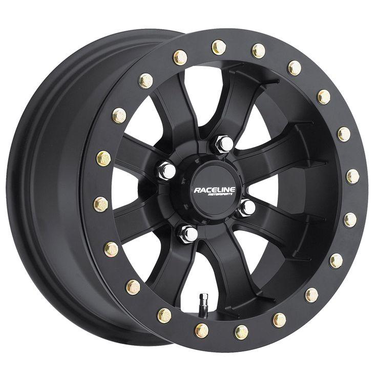 "(4) Mamba Beadlock ATV Wheels/Rims Black 14"" - Raceline"