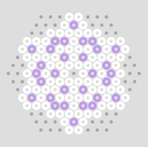 Beaded Snowflake   PATTERN  hama perler