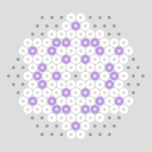 Pastel Hama Bead Snowflakes