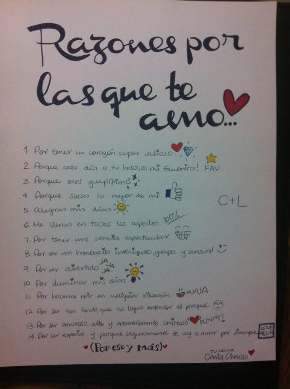 Love. Letter. Reasons. Boyfriend. Love 4ever. Handmade.