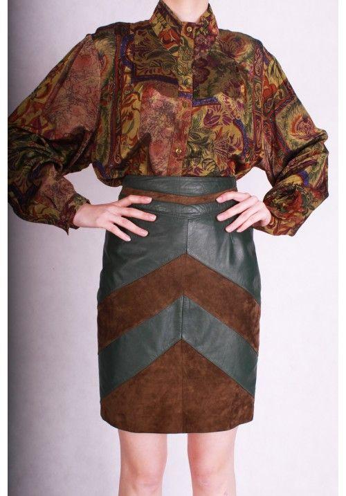Vintage skórzana spódnica 100% skóra naturalna 80s