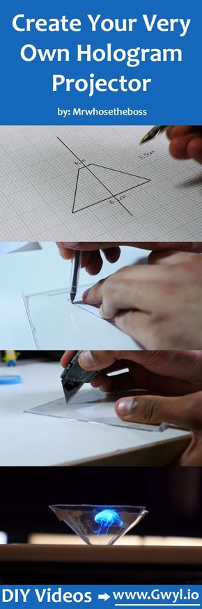 Who said you can't have your own hologram? Now it's possible for you to enjoy one by transforming your smartphone into a 3D hologram projector! See video and full written instructions here: http://gwyl.io/create-your-very-own-hologram-projector/