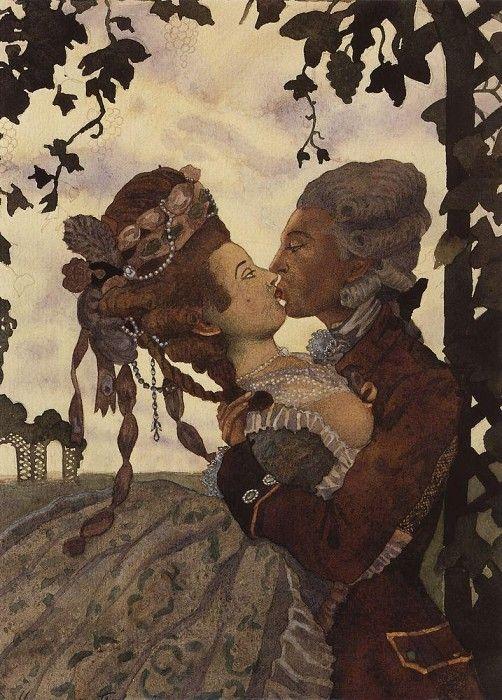 Поцелуй. 1914. Сомов Константин Андреевич (1869-1939)