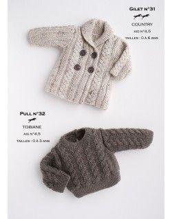 Modèle pull CB17-32 - Patron tricot gratuit