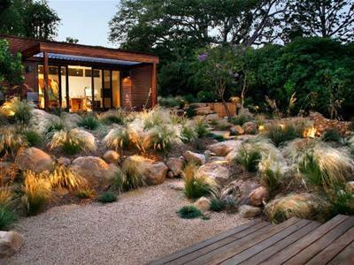 Great contrast between the soft grasses and the boulders throughout the  landscape. Design by Margaret - 21 Best Coastal Landscape Design Images On Pinterest Landscape